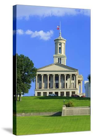 Bicentennial Capitol Mall State Park and Capitol Building-Richard Cummins-Stretched Canvas Print