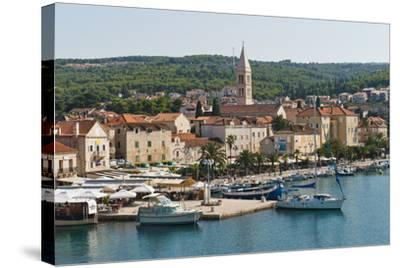 Supetar Harbour and the Church of the Annunciation-Matthew Williams-Ellis-Stretched Canvas Print