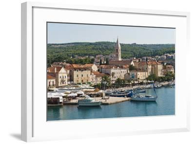 Supetar Harbour and the Church of the Annunciation-Matthew Williams-Ellis-Framed Photographic Print