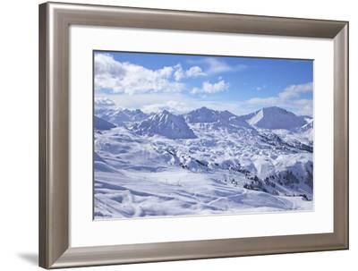 View of Slopes Near Belle Plagne, La Plagne, Savoie, French Alps, France, Europe-Peter Barritt-Framed Photographic Print