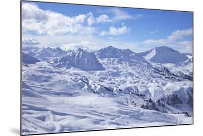 View of Slopes Near Belle Plagne, La Plagne, Savoie, French Alps, France, Europe-Peter Barritt-Mounted Photographic Print