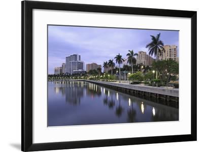 Skyline of West Palm Beach, Florida, United States of America, North America-Richard Cummins-Framed Photographic Print