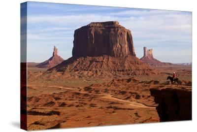 Adrian, Last Cowboy of Monument Valley, Utah, United States of America, North America-Olivier Goujon-Stretched Canvas Print