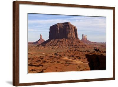 Adrian, Last Cowboy of Monument Valley, Utah, United States of America, North America-Olivier Goujon-Framed Photographic Print