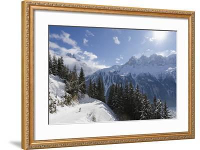 Brevant Ski Area, Aiguilles De Chamonix, Chamonix, Haute-Savoie, French Alps, France, Europe-Christian Kober-Framed Photographic Print