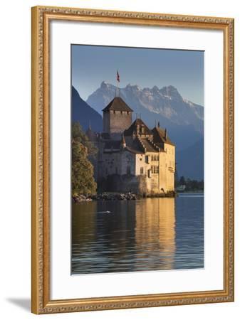 The Castle of Chillon, on Lake Geneva, Montreux, Canton Vaud, Switzerland, Europe-Angelo Cavalli-Framed Photographic Print
