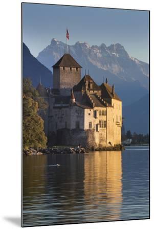 The Castle of Chillon, on Lake Geneva, Montreux, Canton Vaud, Switzerland, Europe-Angelo Cavalli-Mounted Photographic Print