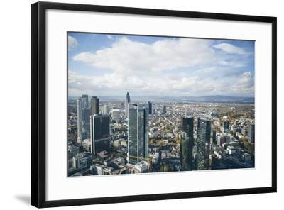High Angle View of Financial Centre, Frankfurt-Am-Main, Hesse, Germany, Europe-Mark Doherty-Framed Photographic Print