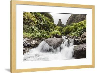 Waterfall in Iao Valley State Park, Maui, Hawaii, United States of America, Pacific-Michael Nolan-Framed Photographic Print