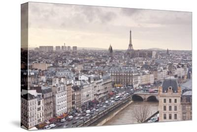 The City of Paris as Seen from Notre Dame Cathedral, Paris, France, Europe-Julian Elliott-Stretched Canvas Print