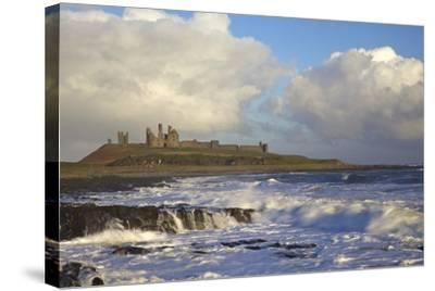 Surf on Rocks, Dunstanburgh Castle, Northumberland, England, United Kingdom, Europe-Peter Barritt-Stretched Canvas Print