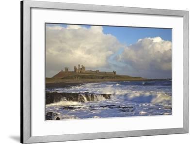 Surf on Rocks, Dunstanburgh Castle, Northumberland, England, United Kingdom, Europe-Peter Barritt-Framed Photographic Print