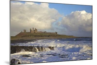 Surf on Rocks, Dunstanburgh Castle, Northumberland, England, United Kingdom, Europe-Peter Barritt-Mounted Photographic Print