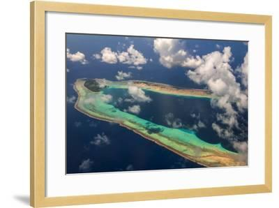 Aerial of the Very Beautiful Ant Atoll, Pohnpei, Micronesia, Pacific-Michael Runkel-Framed Photographic Print