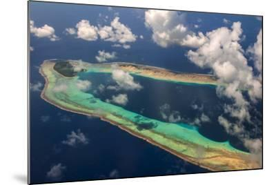 Aerial of the Very Beautiful Ant Atoll, Pohnpei, Micronesia, Pacific-Michael Runkel-Mounted Photographic Print