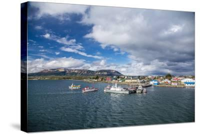 The Harbour Town of Puerto Natales, Patagonia, Chile, South America-Michael Nolan-Stretched Canvas Print