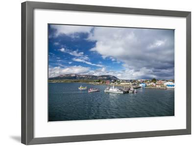 The Harbour Town of Puerto Natales, Patagonia, Chile, South America-Michael Nolan-Framed Photographic Print