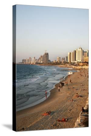 Beach, Tel Aviv, Israel, Middle East-Yadid Levy-Stretched Canvas Print