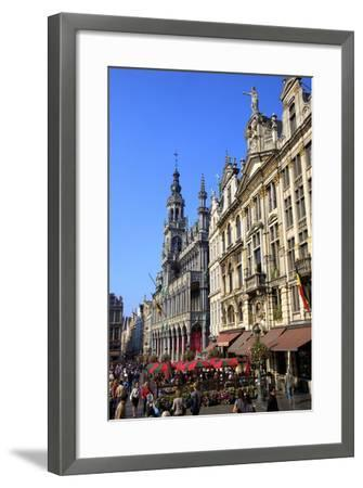 Grand Place, UNESCO World Heritage Site, Brussels, Belgium, Europe-Neil Farrin-Framed Photographic Print