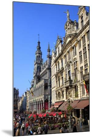 Grand Place, UNESCO World Heritage Site, Brussels, Belgium, Europe-Neil Farrin-Mounted Photographic Print