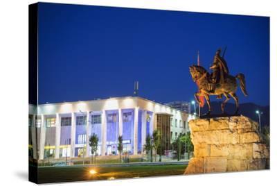 Equestrian Statue of Skanderbeg, Tirana, Albania, Europe-Christian Kober-Stretched Canvas Print