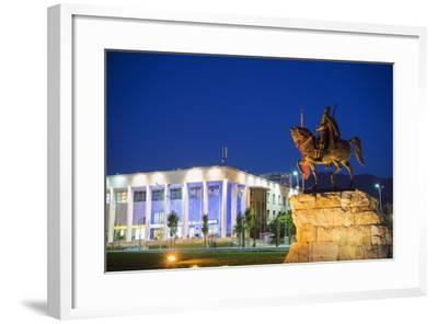 Equestrian Statue of Skanderbeg, Tirana, Albania, Europe-Christian Kober-Framed Photographic Print