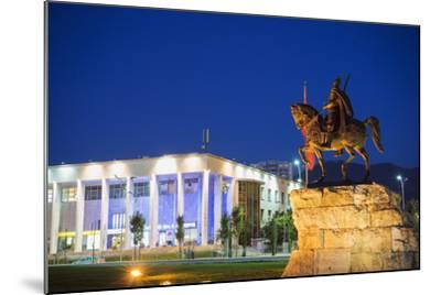 Equestrian Statue of Skanderbeg, Tirana, Albania, Europe-Christian Kober-Mounted Photographic Print