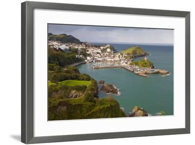View over Ilfracombe, Devon, England, United Kingdom, Europe-Miles Ertman-Framed Photographic Print