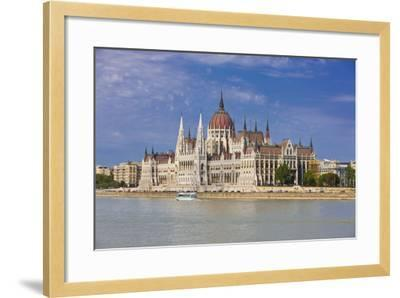 Parliament on the Banks of the River Danube, Budapest, Hungary, Europe-Michael Runkel-Framed Photographic Print