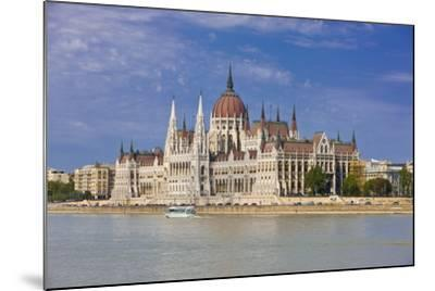 Parliament on the Banks of the River Danube, Budapest, Hungary, Europe-Michael Runkel-Mounted Photographic Print