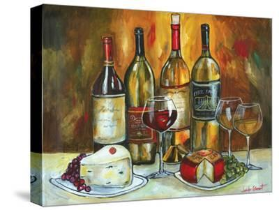 Wine and Cheese-Jennifer Garant-Stretched Canvas Print