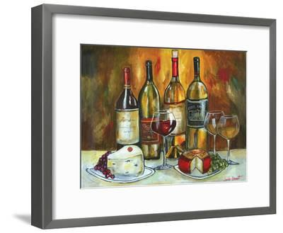 Wine and Cheese-Jennifer Garant-Framed Giclee Print