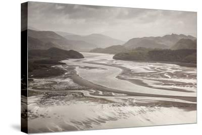 Mawddach Estuary at Low Tide, Barmouth, Snowdonia National Park, Gwynedd, Wales, May 2012-Peter Cairns-Stretched Canvas Print