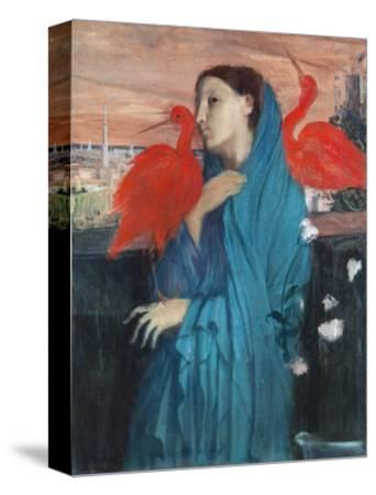 Young Woman with Ibis-Edgar Degas-Stretched Canvas Print