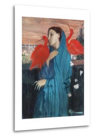 Young Woman with Ibis-Edgar Degas-Metal Print