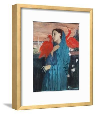 Young Woman with Ibis-Edgar Degas-Framed Giclee Print