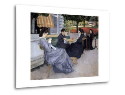 Portraits in the Country-Gustave Caillebotte-Metal Print