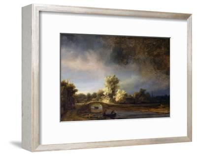 The Stone Bridge-Rembrandt van Rijn-Framed Giclee Print