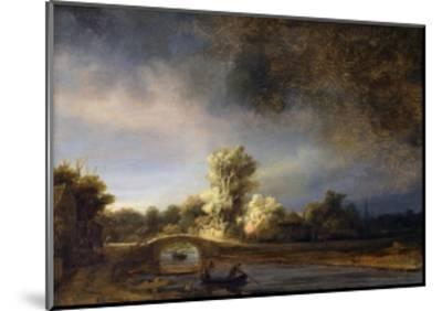 The Stone Bridge-Rembrandt van Rijn-Mounted Giclee Print