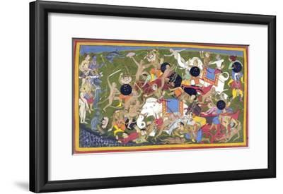Battle Between the Armies of Rama and the King of Lanka--Framed Giclee Print