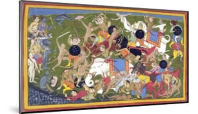 Battle Between the Armies of Rama and the King of Lanka--Mounted Giclee Print
