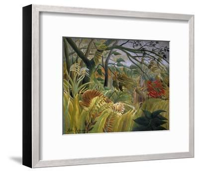 Tiger in a Tropical Storm (Surprised!)-Henri Rousseau-Framed Giclee Print