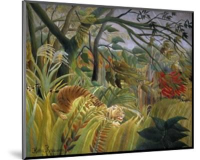 Tiger in a Tropical Storm (Surprised!)-Henri Rousseau-Mounted Giclee Print