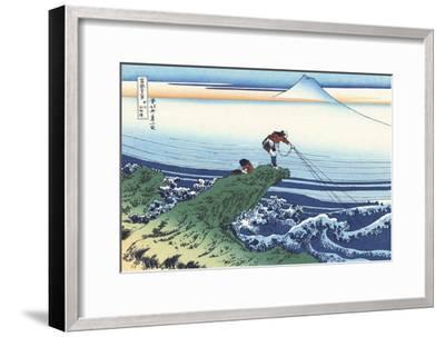 Kajikazawa in Kai Province-Katsushika Hokusai-Framed Giclee Print