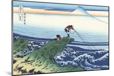 Kajikazawa in Kai Province-Katsushika Hokusai-Mounted Giclee Print