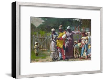 Dressing for the Carnival-Winslow Homer-Framed Giclee Print