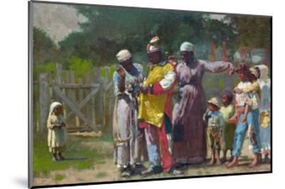 Dressing for the Carnival-Winslow Homer-Mounted Giclee Print