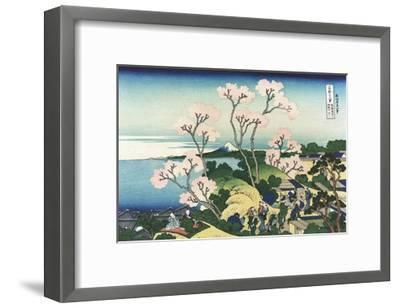 Goten-Yama Hill, at Shinagawa on the Tokaido-Katsushika Hokusai-Framed Giclee Print