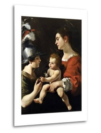 The Virgin and the Child with St. Michael-Rutilio Manetti-Metal Print