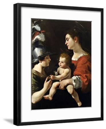 The Virgin and the Child with St. Michael-Rutilio Manetti-Framed Giclee Print